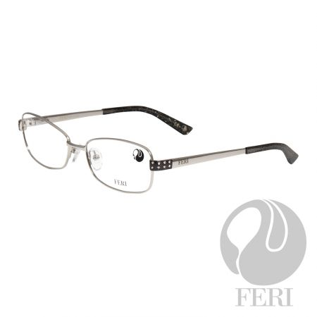 FERI - Capri Black - Optical - FERI Optical glasses are manufactured in Italy - Acetate optical glasses - Embellished with silver coloured metal, sparkle acetate and clear stones - FERI logo on both outer arms - Rectangular frame shape - Comes with non-prescription plano Lens - Incredibly unique styling will turn heads  *FERI Optical glasses DO NOT come with prescription lenses. Please take the frames to your Optician to have your custom prescription lens installed.*