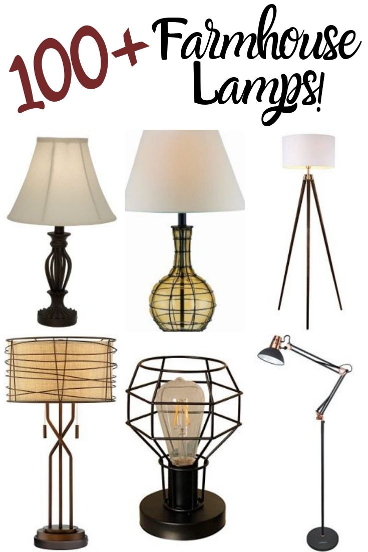contemporary farmhouse floor lamp