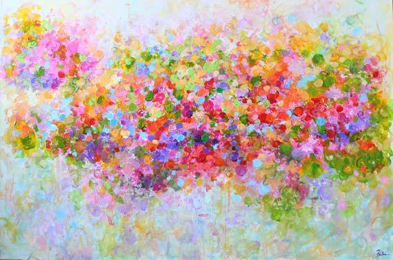 Kunst Gemälde Landschaft Original abstrakte Malerei von artbyoak1