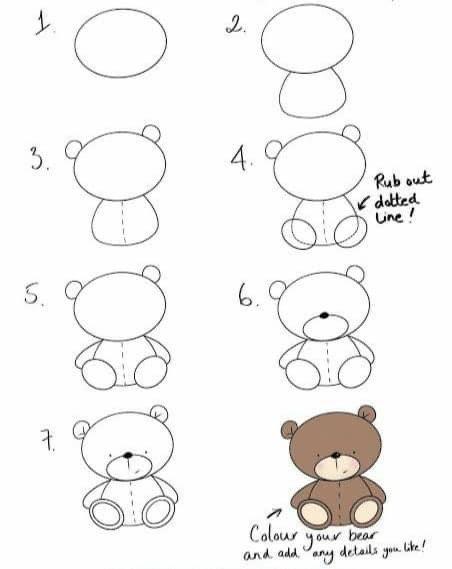تعليم الرسم للاطفال خطوة بخطوة مدونة جنى للأطفال Easy christmas drawings Easy doodle art
