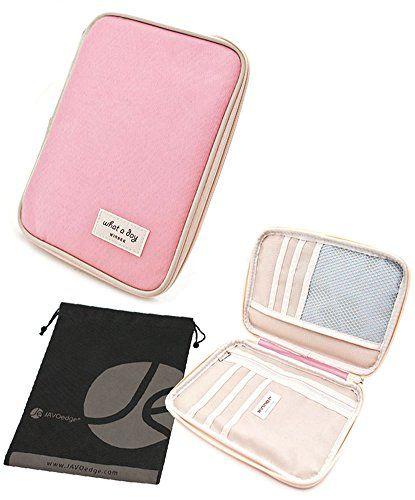 Carry-all Passport Document Travel Wallet and Bonus Free Travel Bag (Light Pink) JAVOedge http://www.amazon.com/dp/B00JSCYMJG/ref=cm_sw_r_pi_dp_G31Jvb10TC01R