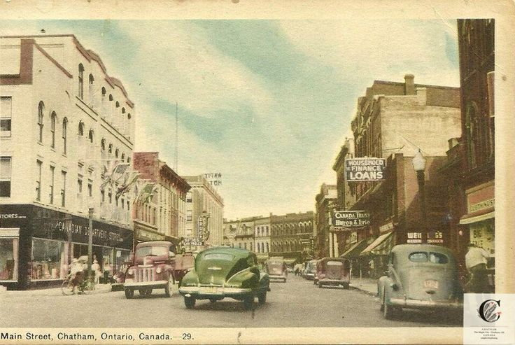 King Street West - Chatham, Ontario (Postacard)