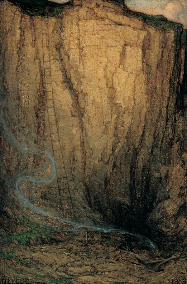 Ozias Leduc. Day's End, 1913. Oil on canvas, 50.8 x 34.3cm