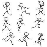 Vektor: Strichmännchen, laufend, rennend