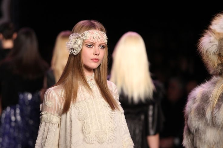 Model Frida Gustavsson on the runway. Photo: Nata Sha / Shutterstock.com