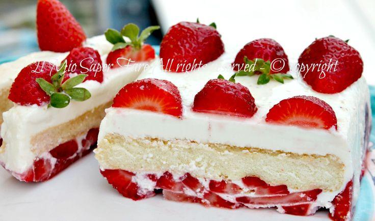 Semifreddo   e   nulla da cuocere ma solo da assemblare ;) http://blog.giallozafferano.it/loti64/semifreddo-mascarpone-e-fragole-morbido-e-goloso/