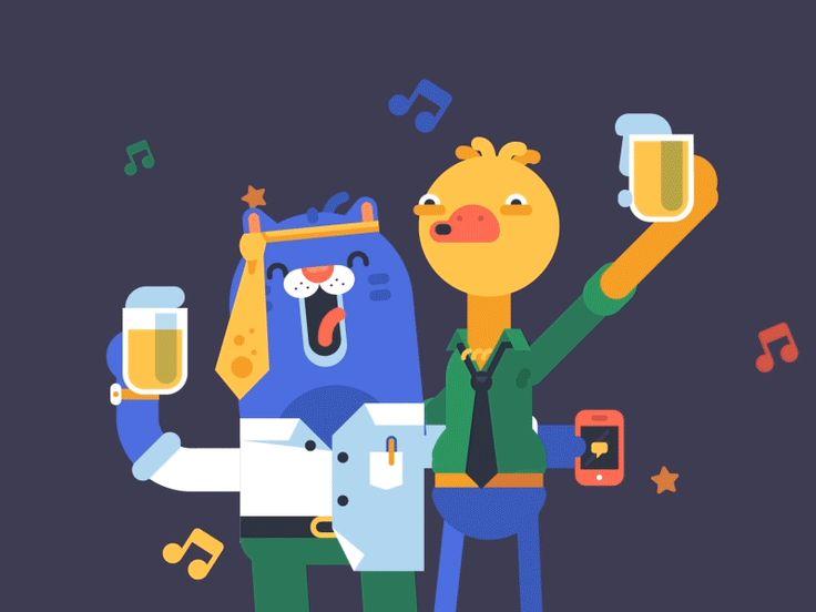 Dribbble - Woo Hoo!! It's Friday by ARM Thanat Sattavorn
