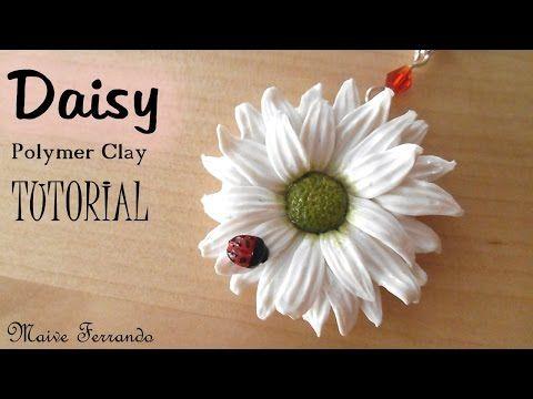 Polymer Clay Daisy Pendant Tutorial   Maive Ferrando - YouTube