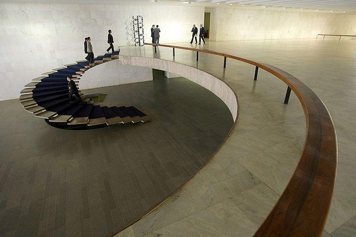 Oscar Niemeyer: The foyer of the Foreign Ministry Palacio do Itamarati