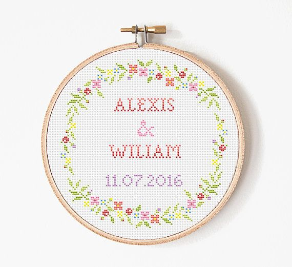 Cross stitch pattern - Scheme for cross stitch - Wedding Cross Stitch - PDF Cross stitch Pattern - INSTANT DOWNLOAD