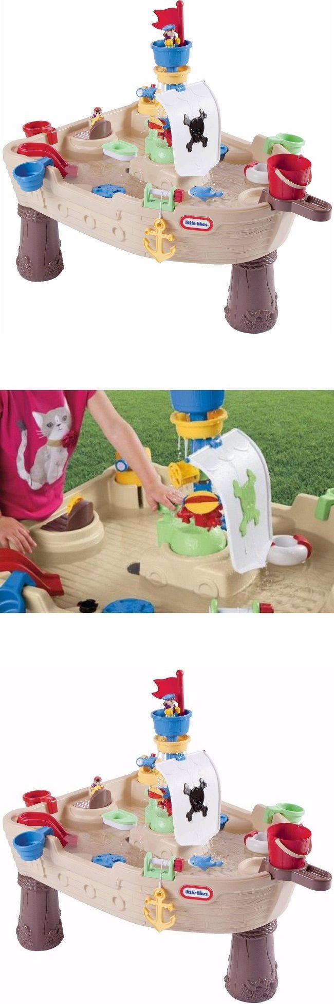 Sandbox Toys and Sandboxes 145990: Little Tikes Table Pirate Ship Anchors Water Set Toys Toy Outdoor Play Playset -> BUY IT NOW ONLY: $83.69 on eBay!