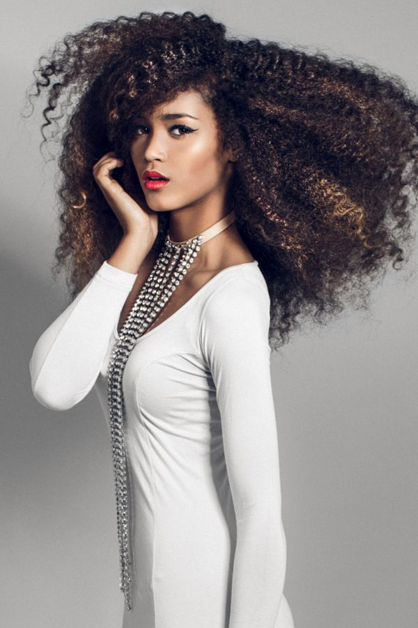 This girl's hair is amazing! My girls are going to have hair like this :)