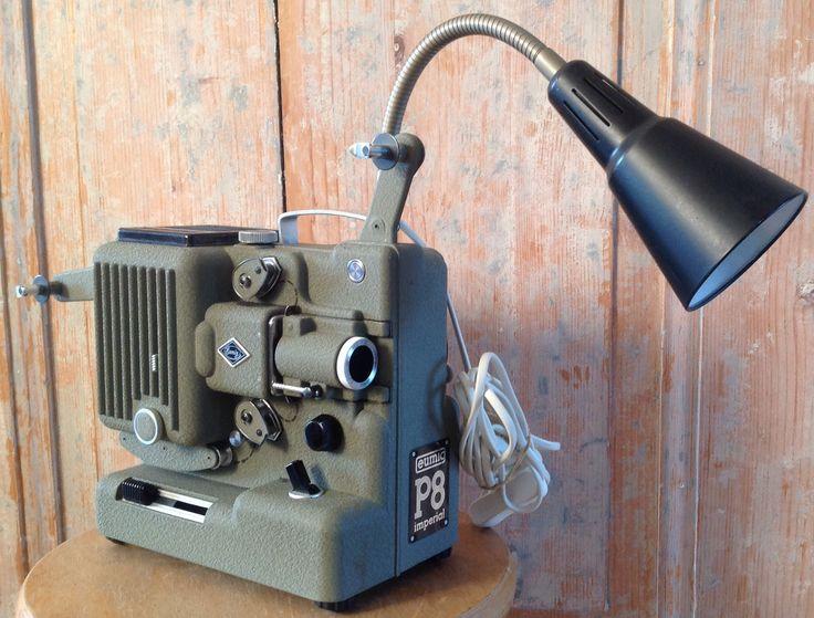 Eumig P8 buigbare Vintage Filmprojector lamp/ 95,-