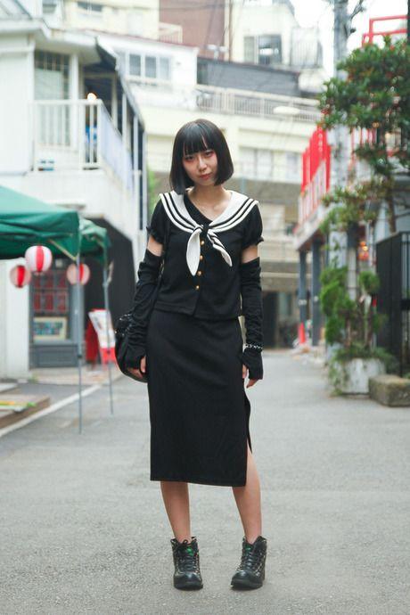 ちょっと戸川純さん思い出した: Street Snap, Tokyo Mode, スナップ 原宿