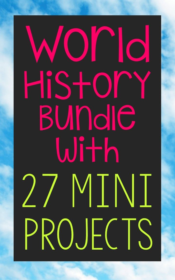 This HUGE bundle includes ALL 27 world history mini projects created by Elle Madison. Perfect if you need to cover these time periods, but need condensed lesson units! All time periods include 10 vocabulary terms and 4 important people, plus 2 discussion questions... for a TOTAL of 270 vocabulary terms, 108 important historical people, and 54 discussion questions!!!