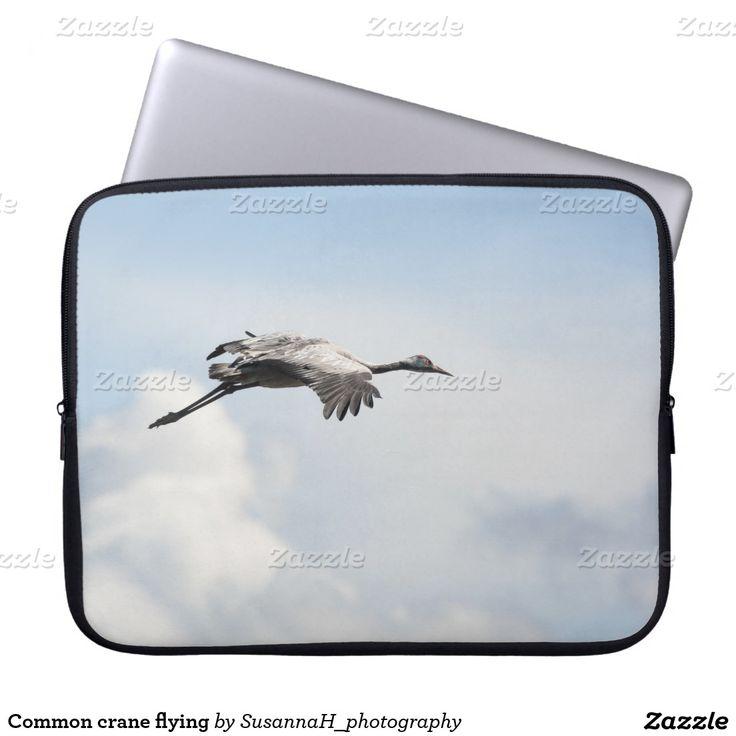 Common crane flying laptop computer sleeve