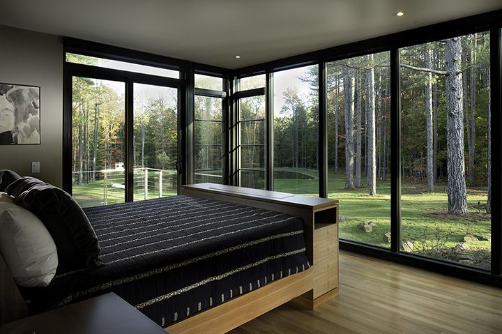 Windsor Windows & Doors Pinnacle black clad windows and doors. Built with a view in mind!