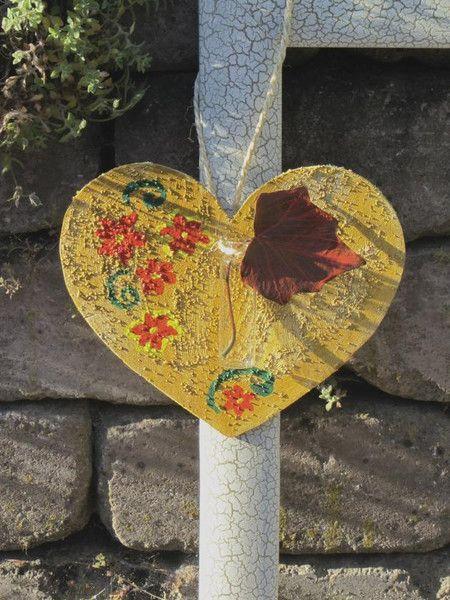 Gartendekoration - Herz Holzherz Dekoration - ein Designerstück von mARgriTs-Atelier bei DaWanda