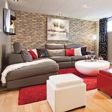 17 best images about sous sol on pinterest basement. Black Bedroom Furniture Sets. Home Design Ideas