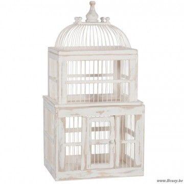 "J-Line Vogelhuis hout wit 73h <span style=""font-size: 0.01pt;"">Jline-by-Jolipa-53314-voliere-vogelkooi-cage-a-oiseaux-eshop-vogelkooien-design-voliere-vogelhuis-rural-campagne-cage-a-oiseaux-vi</span>"