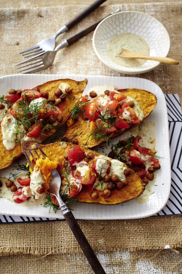 Unser beliebtes Rezept für Ofensüßkartoffeln mit Sesam-Mandel-Soße und mehr als 55.000 weitere kostenlose Rezepte auf LECKER.de.