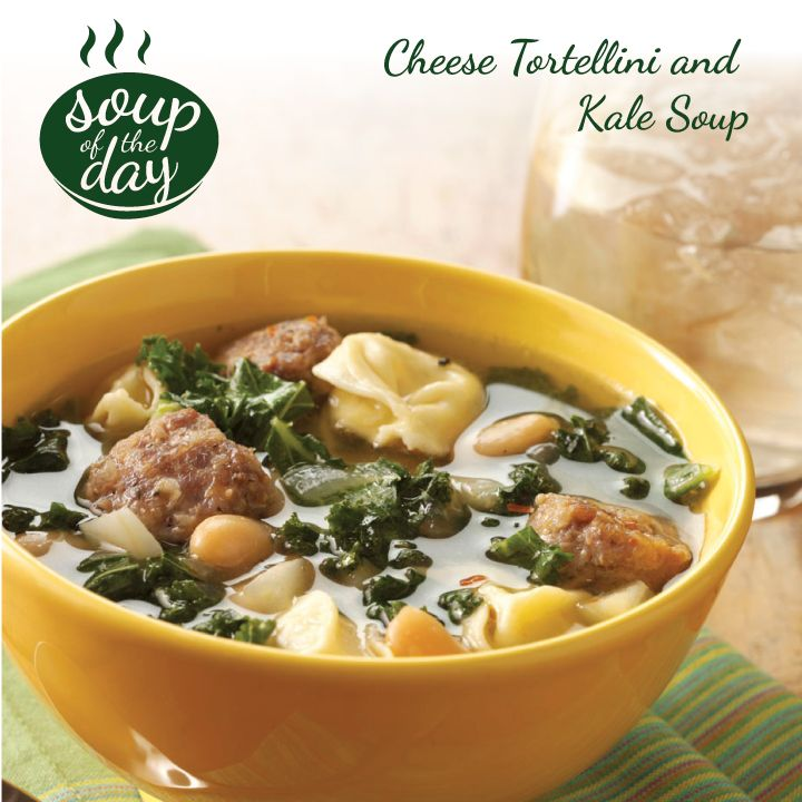 Cheese Tortellini and Kale Soup Recipe from Taste of Home -- shared by Marlena Liimatainen, Denton, Maryland
