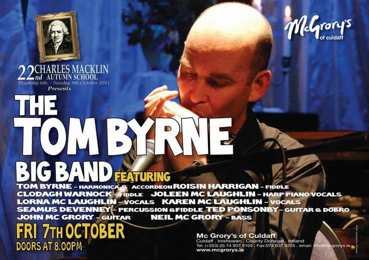 Tom Byrne performs in The Backroom at Mc Grory's of Culdaff