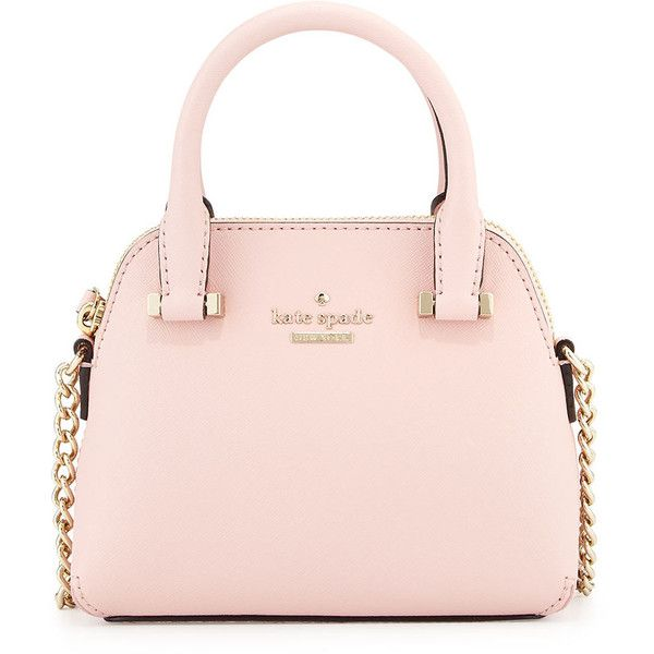 kate spade new york cedar street mini maise crossbody bag ($198) ❤ liked on Polyvore featuring bags, handbags, shoulder bags, rose jade, leather purse, mini crossbody, leather handbags, kate spade shoulder bag and mini crossbody purse