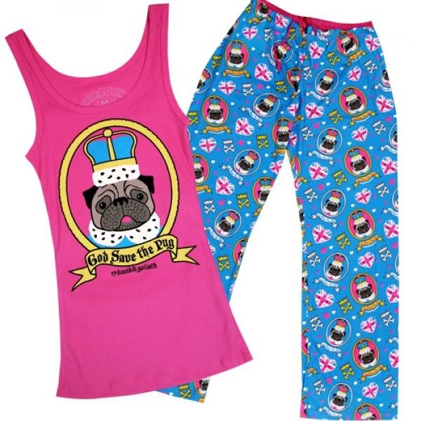 The Royal Pug Pajama Set Womens Pajama Set 2256b3f98