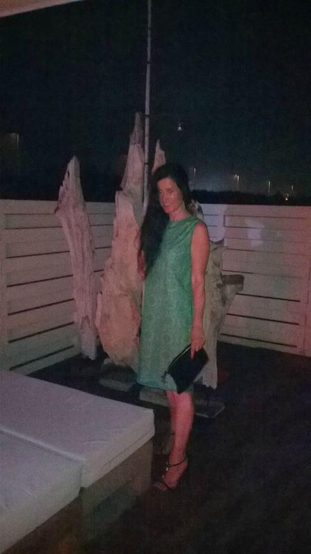 robe trois trous en dentelle verte