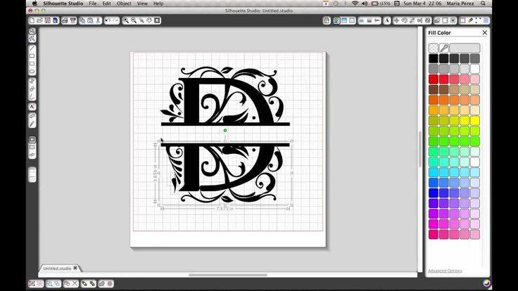 Splitting letters in silhouette studio
