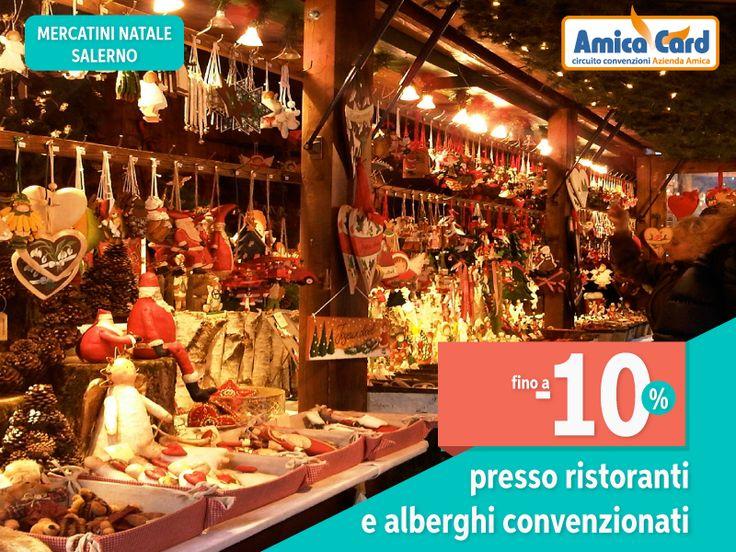 NON PERDERE LA MAGIA DELLE LUCI D'ARTISTA A SALERNO. Dall'8 dicembre visita i Mercatini di Natale sul #lungomare e passeggia tra le vie della città ammirando le famose luci d'artista. Con Amica Card risparmi fino al 10% sul tuo soggiorno presso #ristoranti e #alberghi convenzionati. Registrati subito e scarica gli #sconti su AmicaCard.it #Natale2016 #Salerno #mercatini #risparmio #amicacard #convenzioni #winter #christmas #christmasiscoming