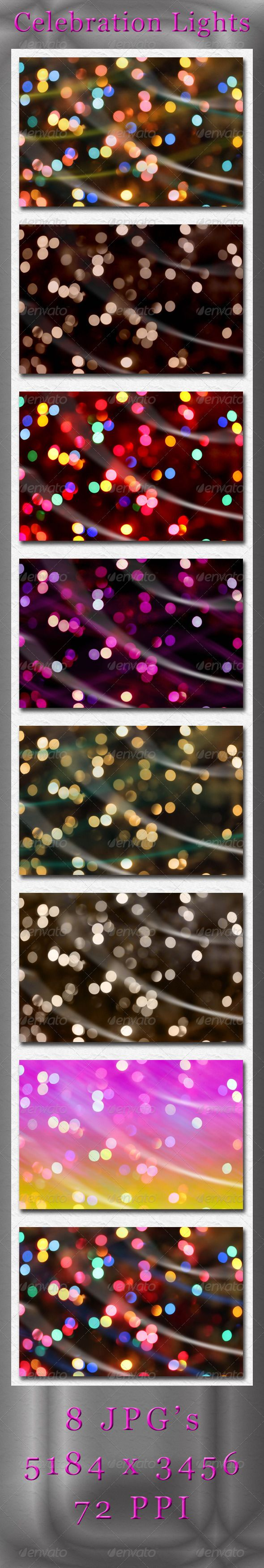 Celebration Lights  #GraphicRiver         8 JPG's Celebration Bokeh Light Abstracts   All JPG's are 5184×3456 / 72 ppi     Created: 6March13 GraphicsFilesIncluded: JPGImage HighResolution: Yes Layered: No MinimumAdobeCSVersion: CS PixelDimensions: 5184x3456 Tags: backdrop #backgrounds #blue #blurred #bokeh #bright #celebrate #celebration #celebratory #christmas #colorful #decorative #festive #gold #green #holiday #lighting #lights #nightlights #purple #red #sparkle #sparkles #sparkling