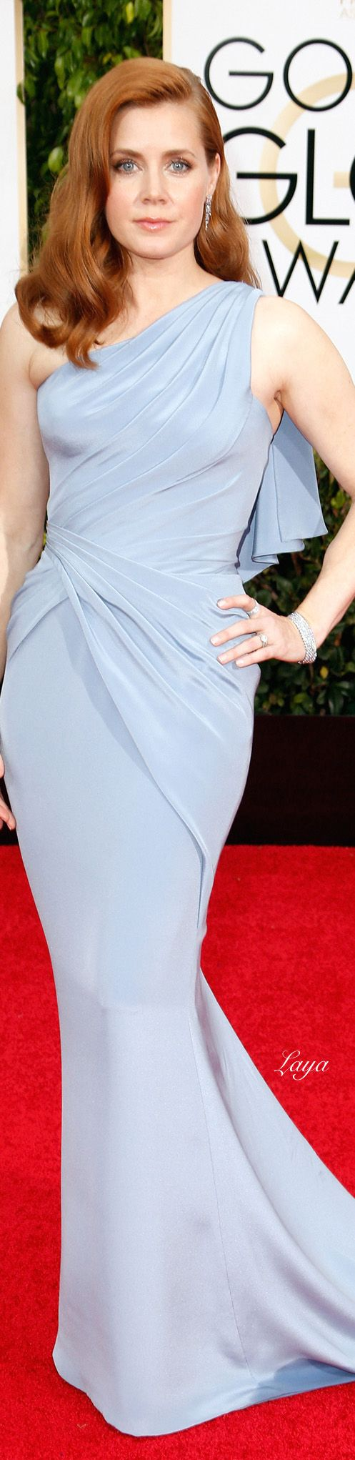 The 2015 Golden Globe Awards: Amy Adams, in Atelier Versace