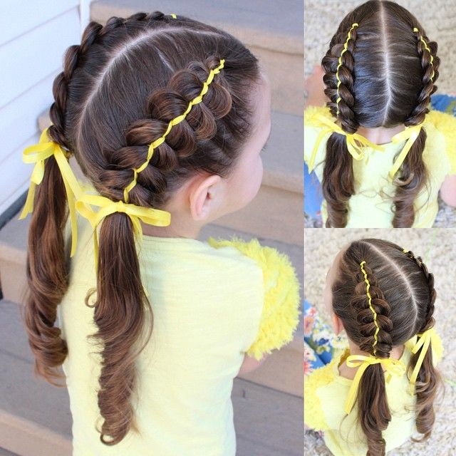 """5 strand ribbon braids. Ribbon braids are always a favourite of mine. I was asked to wear yellow today to support a lady who recently suffered a heart attack #weareHaileySTRONG "" Photo taken by @sheerbraidedbliss on Instagram, pinned via the InstaPin iOS App! http://www.instapinapp.com (03/31/2015)"