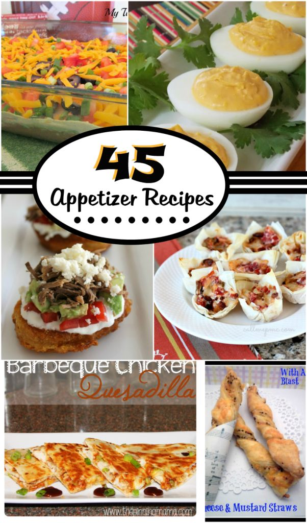 45 Appetizer Ideas - Perfect for the Holidays! #appetizers #holidays