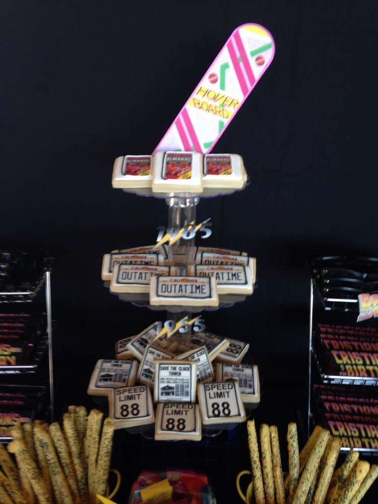 Back to the Future Birthday Party Ideas   most detailed back to he future party I have ever seen (they have the DeLorean and everything!) - this is perfect for October 21, 2015 (Back to the Future Day)