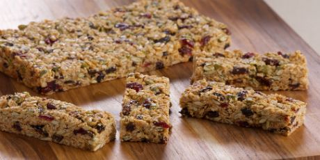 Anna Olson's Granola Bars -   I added hemp hearts and coconut