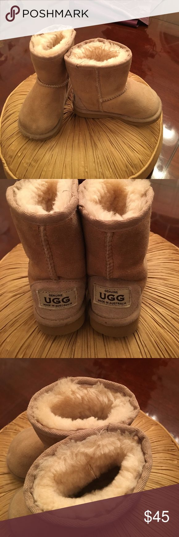 KIDS UGG BOOTS These boots are darling!!  They are in great shape, and will keep your little one comfy and warm.. not to mention cute and fashionable !  They were purchased at a consignment store, so I can't verify authenticity . UGG Shoes Boots