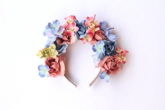 wildflower crown headband  // wedding bridal by kisforkani on Etsy, $69.00