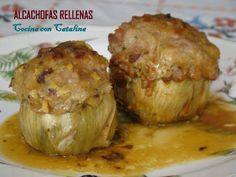 COCINA CON CATALINA: Alcachofas Rellenas, Receta de mi abuela