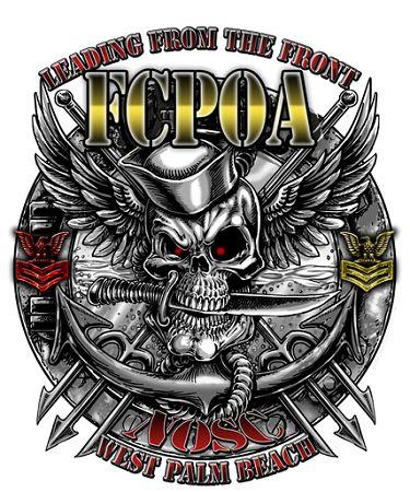 NOSC West Palm Beach Florida US Navy FCPOA Shirt $19.95