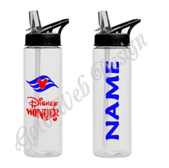 Disney Cruise Line Inspired Sport Water Bottle 16 oz Fish