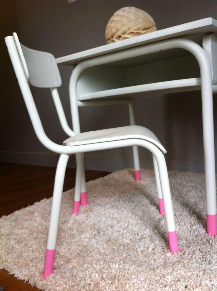 Bureau et petite chaise enfant vintage - Des idées douces.