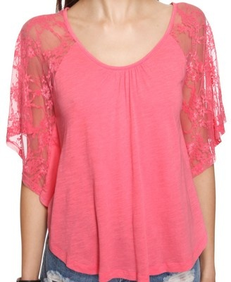 A cute, lace sleeved top.