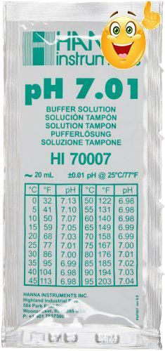 #save The #Hanna Instruments, HI70007P 7.01 pH Buffer Solution, @ 25ºC-20ml sachets (25 pcs) is the most widely used buffer solutions.  Comes in variety of size ...
