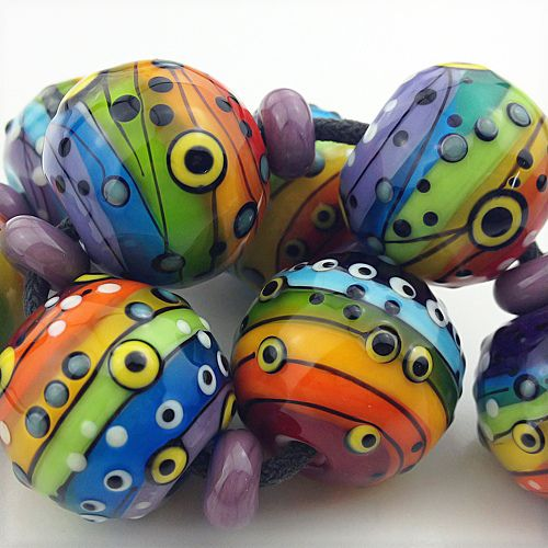 clay beads lampwork beads handmade beads lampworking dichroic glass rock painting canes motifs polymers