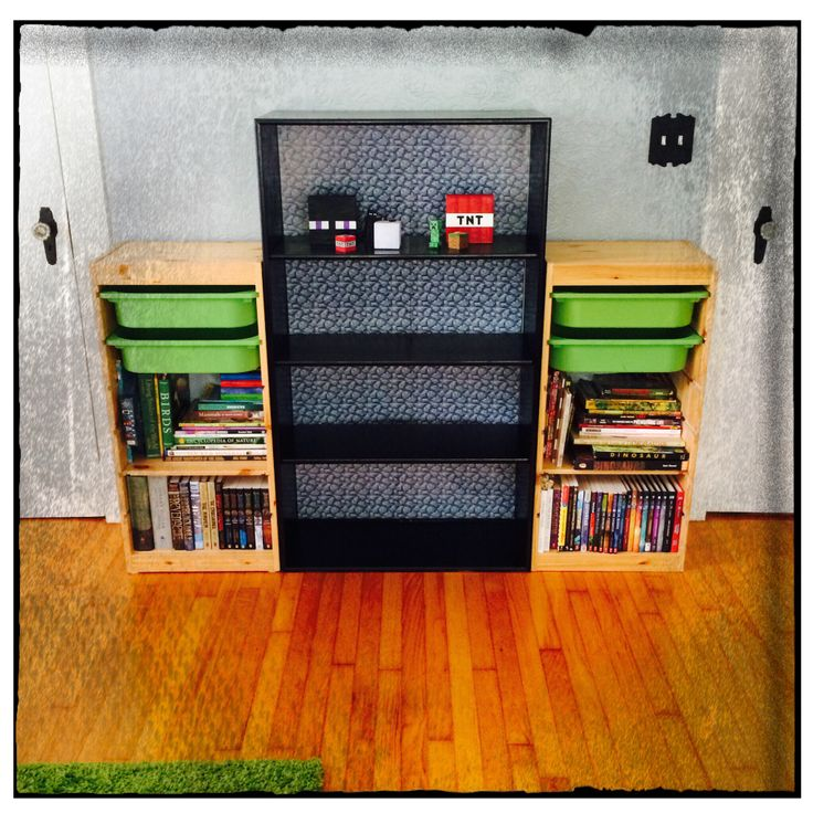 How To Build A Bookcase In Minecraft