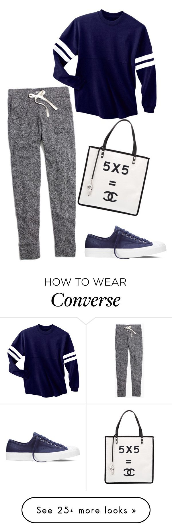 """""""Realistic approach"""" by blondybecca on Polyvore featuring Madewell, Converse and Chanel"""