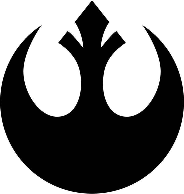 a fictional symbol which is widely know throughout the geek as the symbol of the rebellions of the Star Wars universe. very nice, elegant design, which could influence my future designs.
